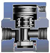 Balanced air shutoff valve, excellent performance for high back pressure applications.