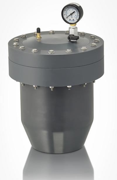 plastic water hammer arrestor and pulsation dampener pvc, cpvc, polypro, pvdf kynar