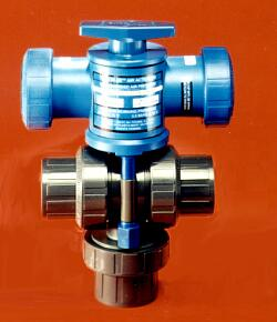 3-way air actuated ball valve