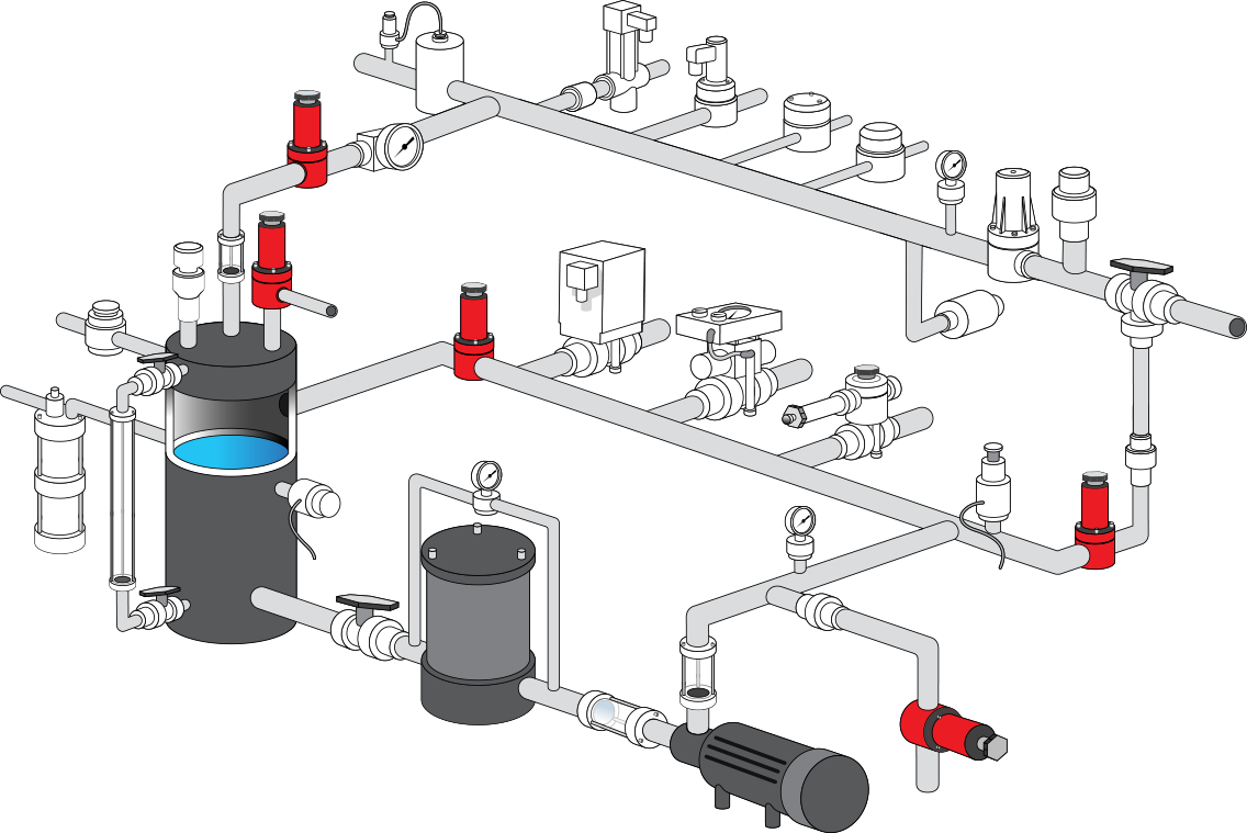 wastewater treatment plant process flow diagram